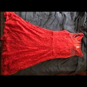 Size small coral lace dress